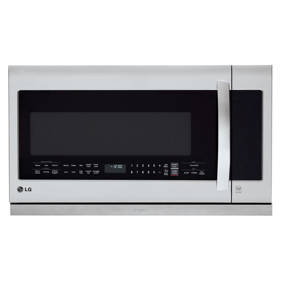 LG 2.2-cu ft Over-the-Range Microwave with Sensor Cooking (Stainless Steel) | LMHM2237ST
