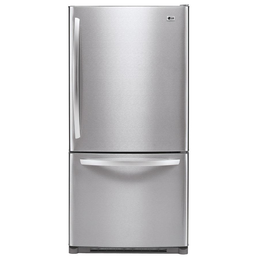Shop LG 22.4 cu ft Bottom-Freezer Refrigerator (Stainless ...