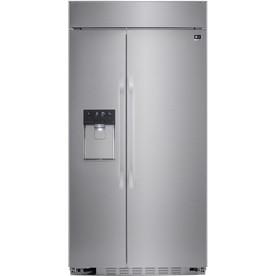 LG Studio 25.6-Cu Ft Built-In Side-By-Side Refrigerator W...