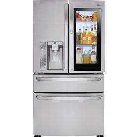 Display product reviews for InstaView 22.5-cu ft 4-Door Counter-Depth French  sc 1 st  Loweu0027s & Shop French Door Refrigerators at Lowes.com