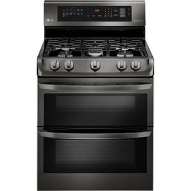 LG 30-In 5-Burner 4.3-Cu Ft / 2.6-Cu Ft Self-Cleaning Dou...
