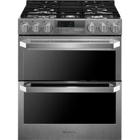 LG Signature 30-In 5-Burner 3-Cu Ft / 4.3-Cu Ft Self-Clea...
