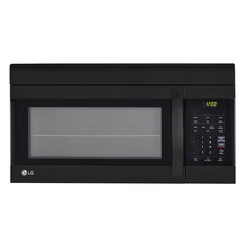 Lg 1 7 Cu Ft Over The Range Microwave Smooth Black