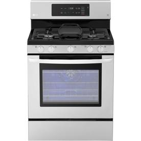 LG 5-Burner Freestanding 5.4-Cu Ft Self-Cleaning Convecti...