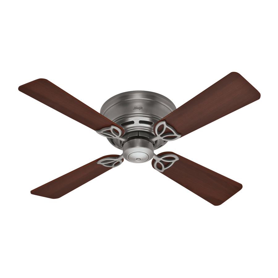 Shop Hunter 42-in Low Profile III Antique Pewter Ceiling