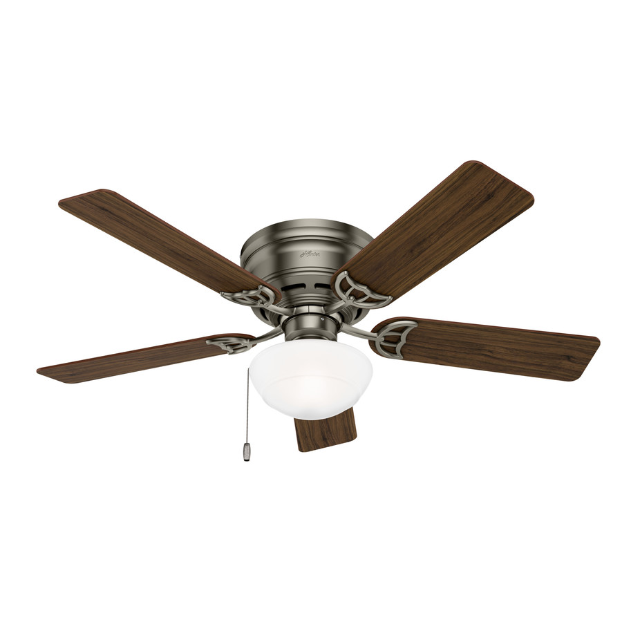 Ceiling Fans Mount: Shop Hunter Low Profile III Plus 52-in Antique Pewter