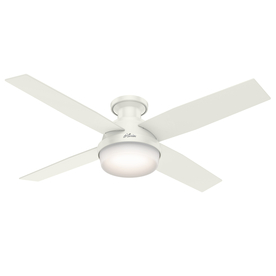 Shop ceiling fans at lowes display product reviews for dempsey 52 in fresh white indoor flush mount ceiling fan with mozeypictures Gallery