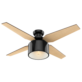 Display Product Reviews For Cranbrook 52 In Gloss Black Indoor Flush Mount Ceiling Fan With