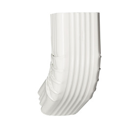 Amerimax 3.25-In White Aluminum Front Elbow 27064