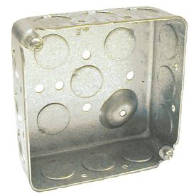 RACO 2-Gang Gray Metal Interior New Work Standard Square Electrical Box 8190