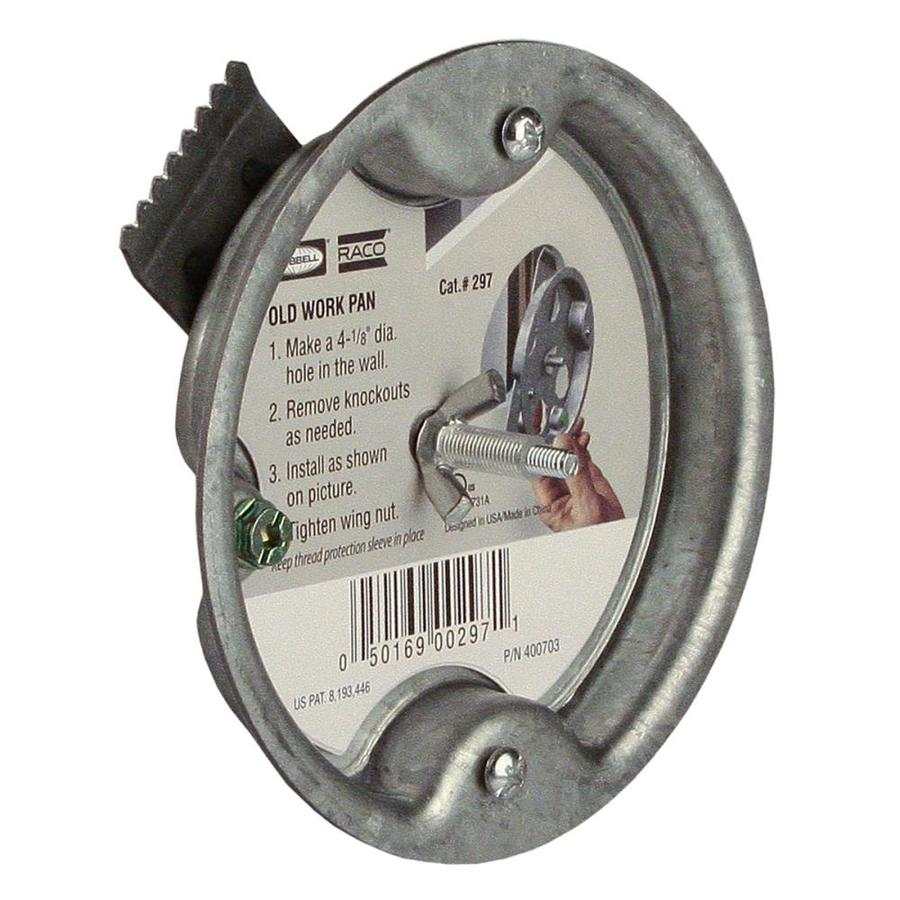Raco 1 Gang Gray Steel Old Work Shallow Round Ceiling Electrical Box In The Electrical Boxes Department At Lowes Com