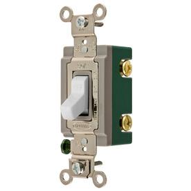 shop hubbell 30-amp white double pole light switch at ... light switch double pole wiring diagram #3