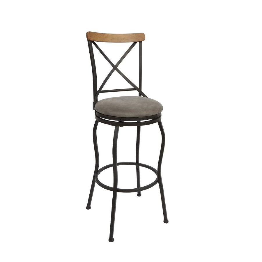 Set Of 2 Oil Rubbed Bronze Adjustable Height Upholstered Swivel Bar Stool In The Bar Stools Department At Lowes Com