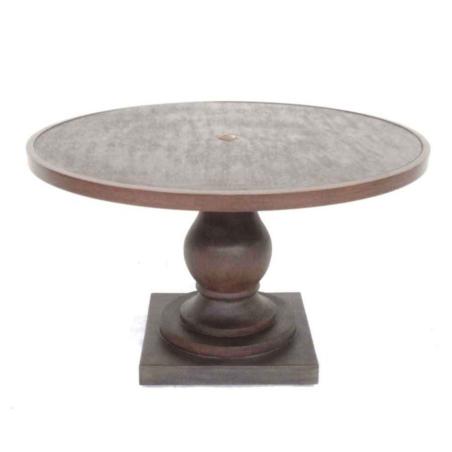 Allen Roth Meridale 476 In X 476 In Resin Round Patio Dining