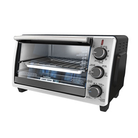 Black & Decker 6-Slice Silver Convection Toaster Oven Wit...