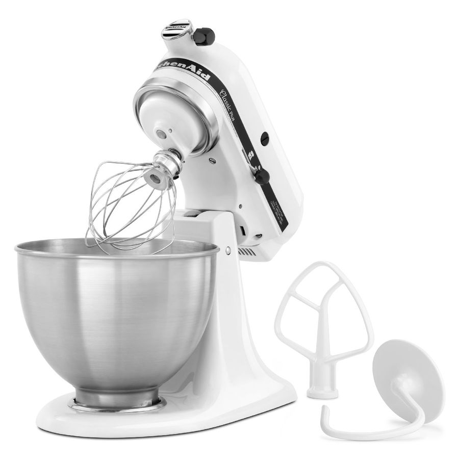 Kitchenaid Classic 4 5 Quart 10 Speed White Stand Mixer In The Stand Mixers Department At Lowes Com