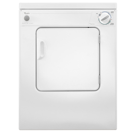 Whirlpool 3.4-Cu Ft Stackable Portable Electric Dryer (Wh...
