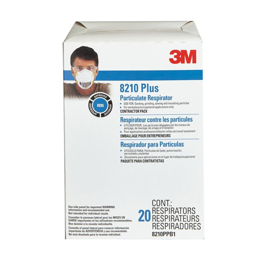 3M 20-Pack Disposable Sanding And Fiberglass Safety Masks 8210