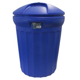 Shop Blue Hawk 32 Gallon Blue Outdoor Recycling Bin With