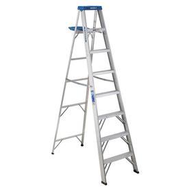 Werner 8-Ft Aluminum Type 1 - 250 Lbs. Step Ladder 368