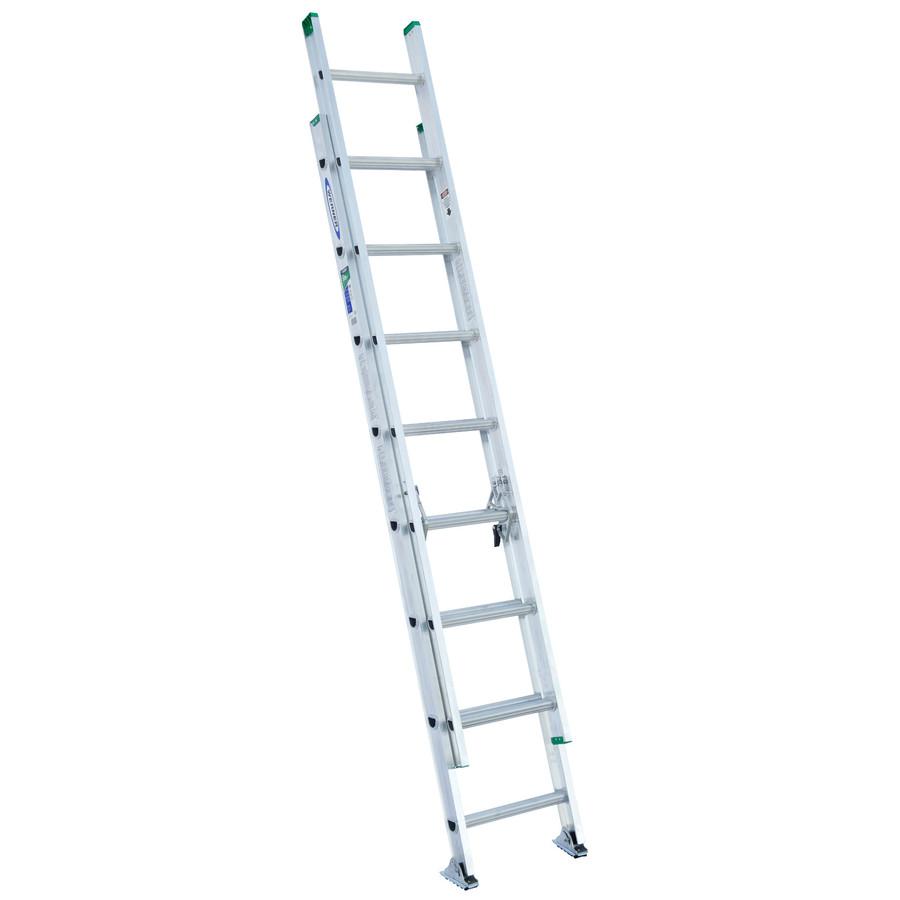 Shop Werner 16 Ft Aluminum 225 Lb Type Ii Extension Ladder