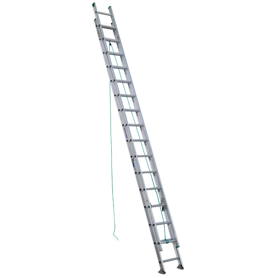 Shop Werner 32 Ft Aluminum 225 Lb Type Ii Extension Ladder