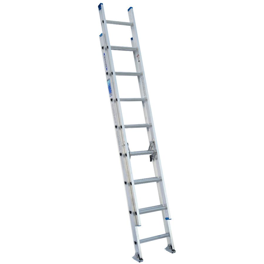 Shop Werner 16 Ft Aluminum 250 Lb Type I Extension Ladder