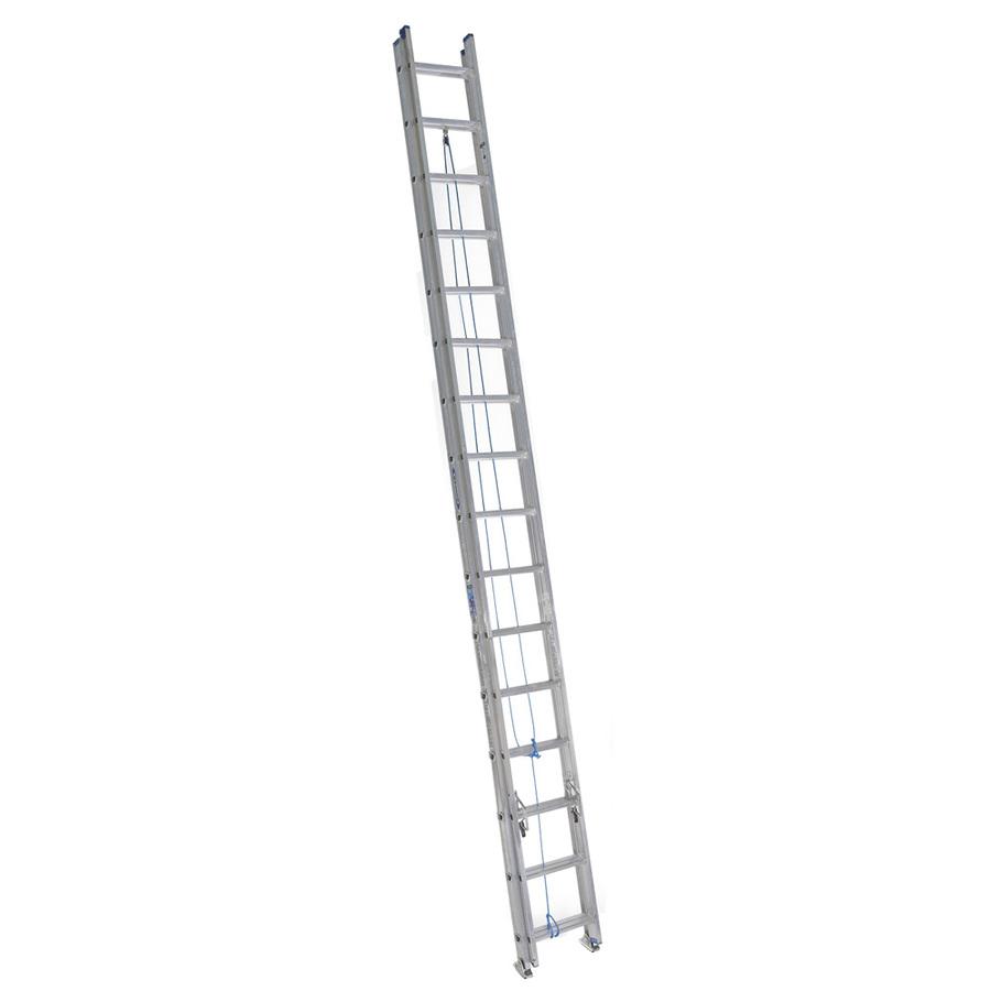 Shop Werner 32 Ft Aluminum 250 Lb Type I Extension Ladder