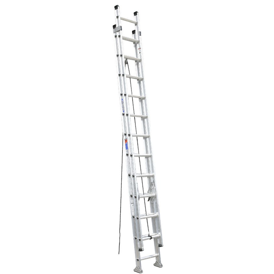 Shop Werner 24 Ft Aluminum 300 Lb Type Ia Extension Ladder