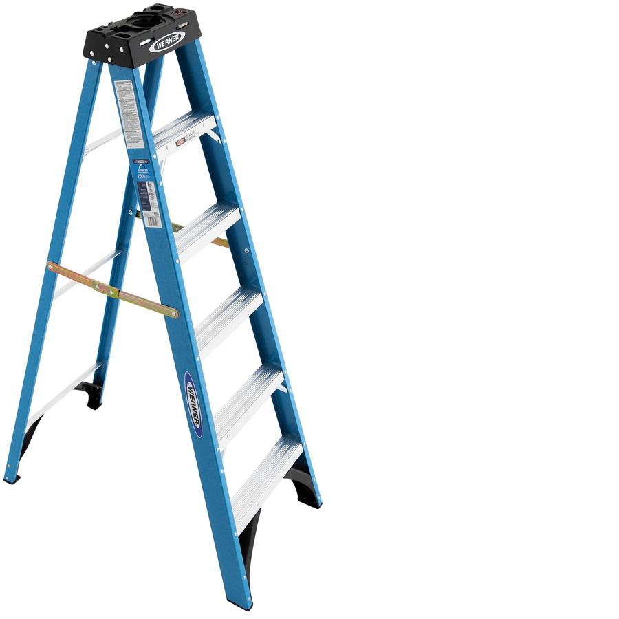 Shop Werner 6 Ft Fiberglass 250 Lb Type I Step Ladder At