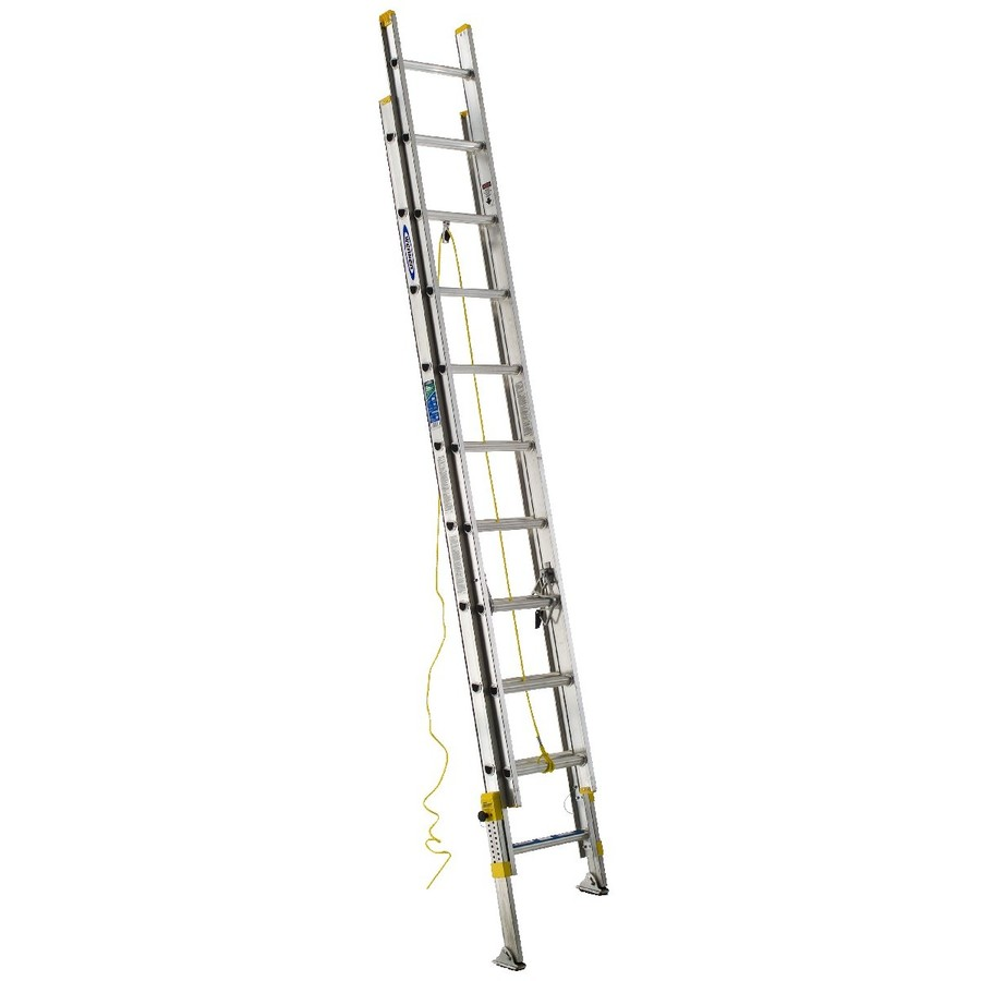Shop Werner 20 Ft Aluminum 225 Lb Type Ii Extension Ladder