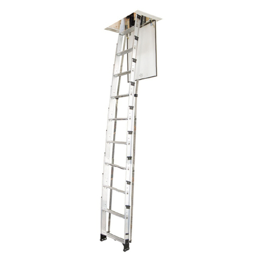 Werner 10 Aluminum Telescoping Attic Ladder Aa10 129 Lowes
