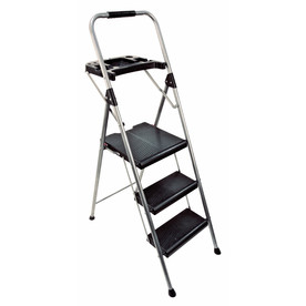 Werner 3-Step 250-lb Grey Steel Step Stool
