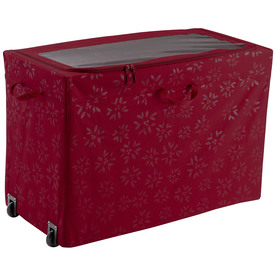 Classic Accessories 18-in W x 24-in H Red/Pink Polyester Ornament Storage Bag 57-003-014301-00