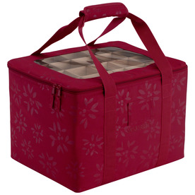 Classic Accessories 13-in W x 12-in H Red/Pink Polyester Ornament Storage Bag 57-005-014301-00