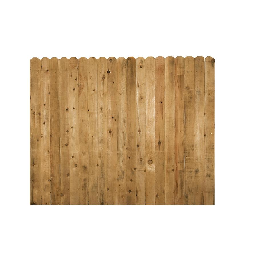 Shop Incense Cedar Dog Ear Wood Fence Picket Panel Common