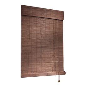 Style Selections Cocoa Light Filtering Bamboo Roller Shade (Common: 48-in; Actual: 48-in x 72-in) ABUA4872C