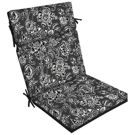 Display Product Reviews For Black And White Jacobean High Back Patio Chair Cushion