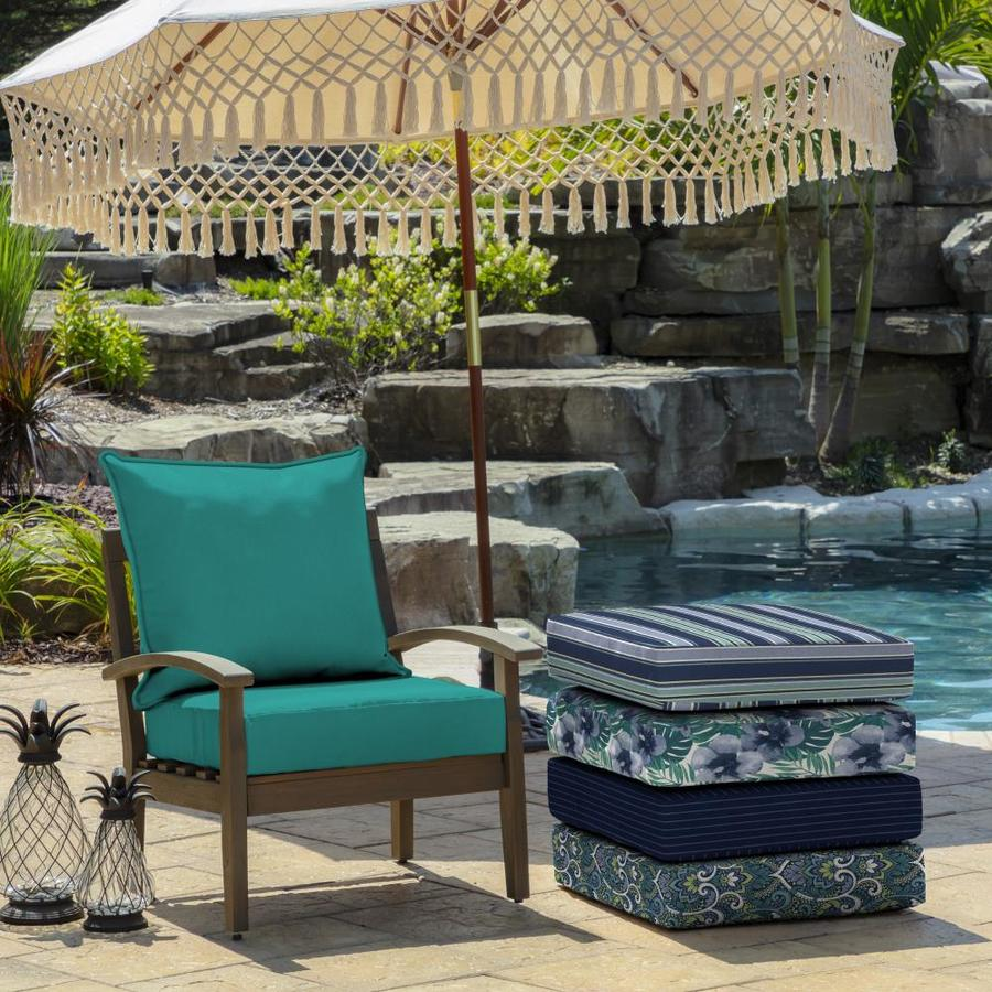 Arden Selections 2 Piece Surf Deep Seat Patio Chair Cushion In The Patio Furniture Cushions Department At Lowes Com