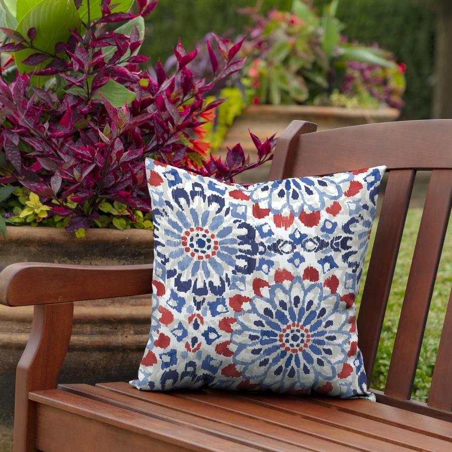 Arden Selections 2 Pack Graphic Print Red White Blue Square Throw Pillow In The Outdoor Decorative Pillows Department At Lowes Com