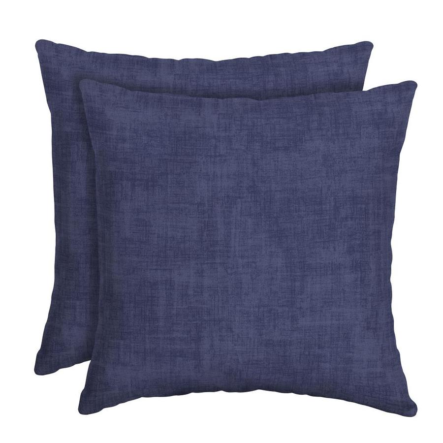 2pk Square Outdoor Pillows Navy