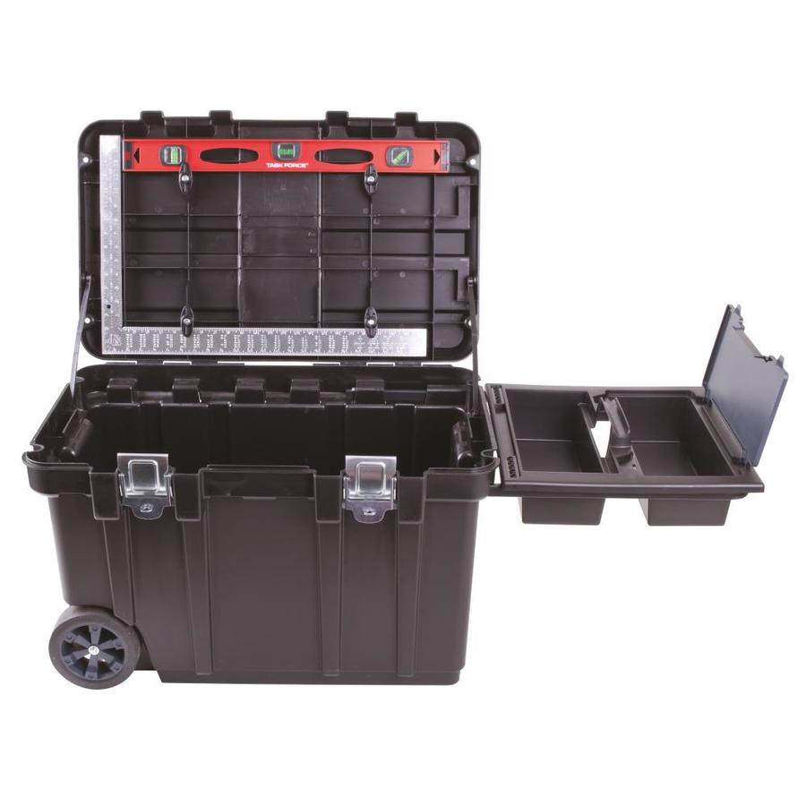 Shop Blue Hawk 30 5 In Wheeled Black Plastic Tool Box At