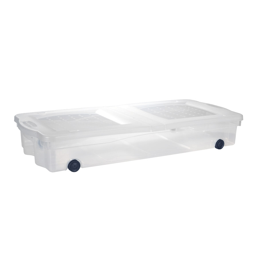Shop Rubbermaid Slimfit Wheeled Underbed Box At Lowes Com