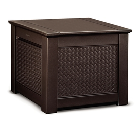 Rubbermaid 28.5-In L X 28.5-In W 56-Gallon Dark Teak Resi...