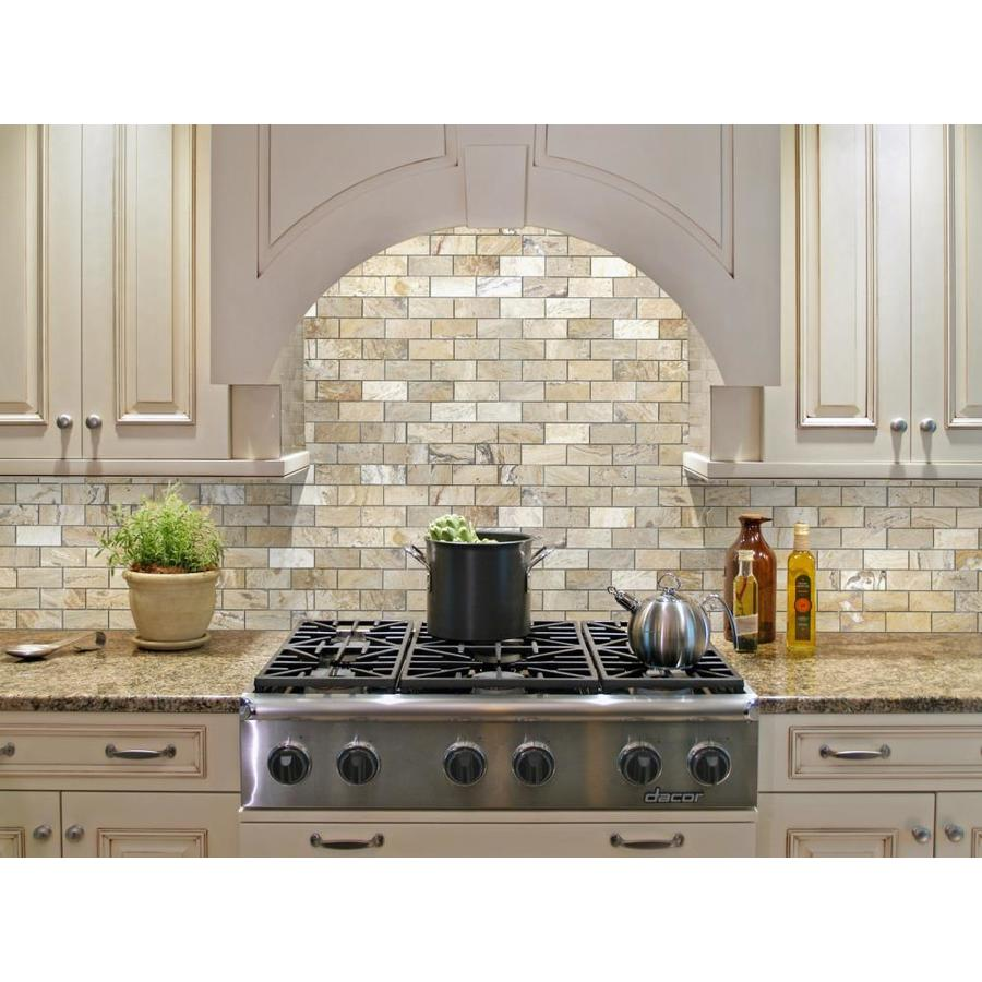 - Allen + Roth A+R Beige 10-in X 12-in Brushed Brick Mosaic Wall