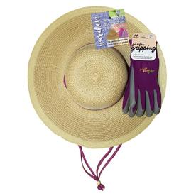MidWest Quality Gloves, Inc. Straw Hat with Glove-Raspberry 94BL