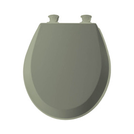 Shop Bemis Lift Off Bayberry Green Wood Round Toilet Seat
