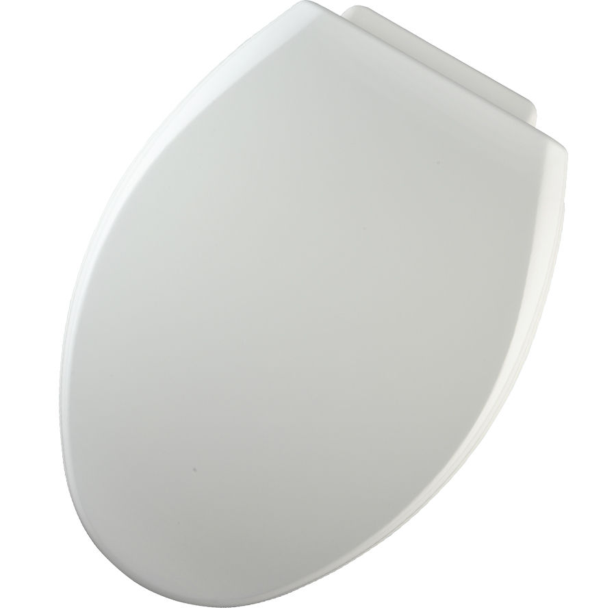 Shop Church Xcite White Wood Elongated Toilet Seat At