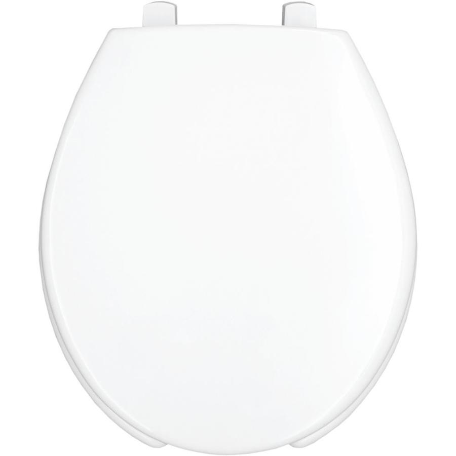 Bemis Hospitality White Round Toilet Seat In The Toilet Seats Department At Lowes Com