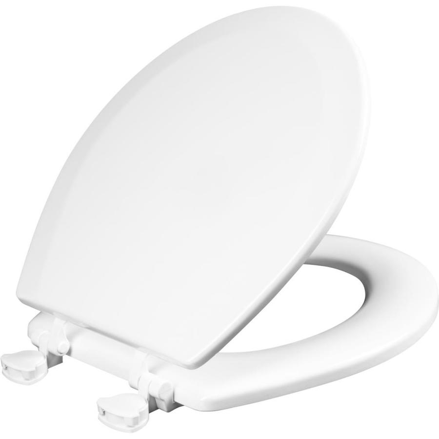 Shop Church White Wood Round Toilet Seat At Lowes Com